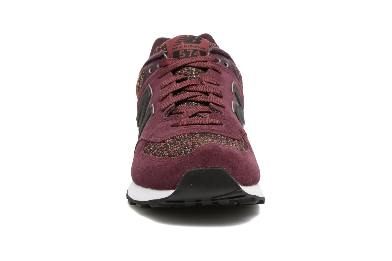 Baskets New Balance WL574 Bordeaux vue portées chaussures