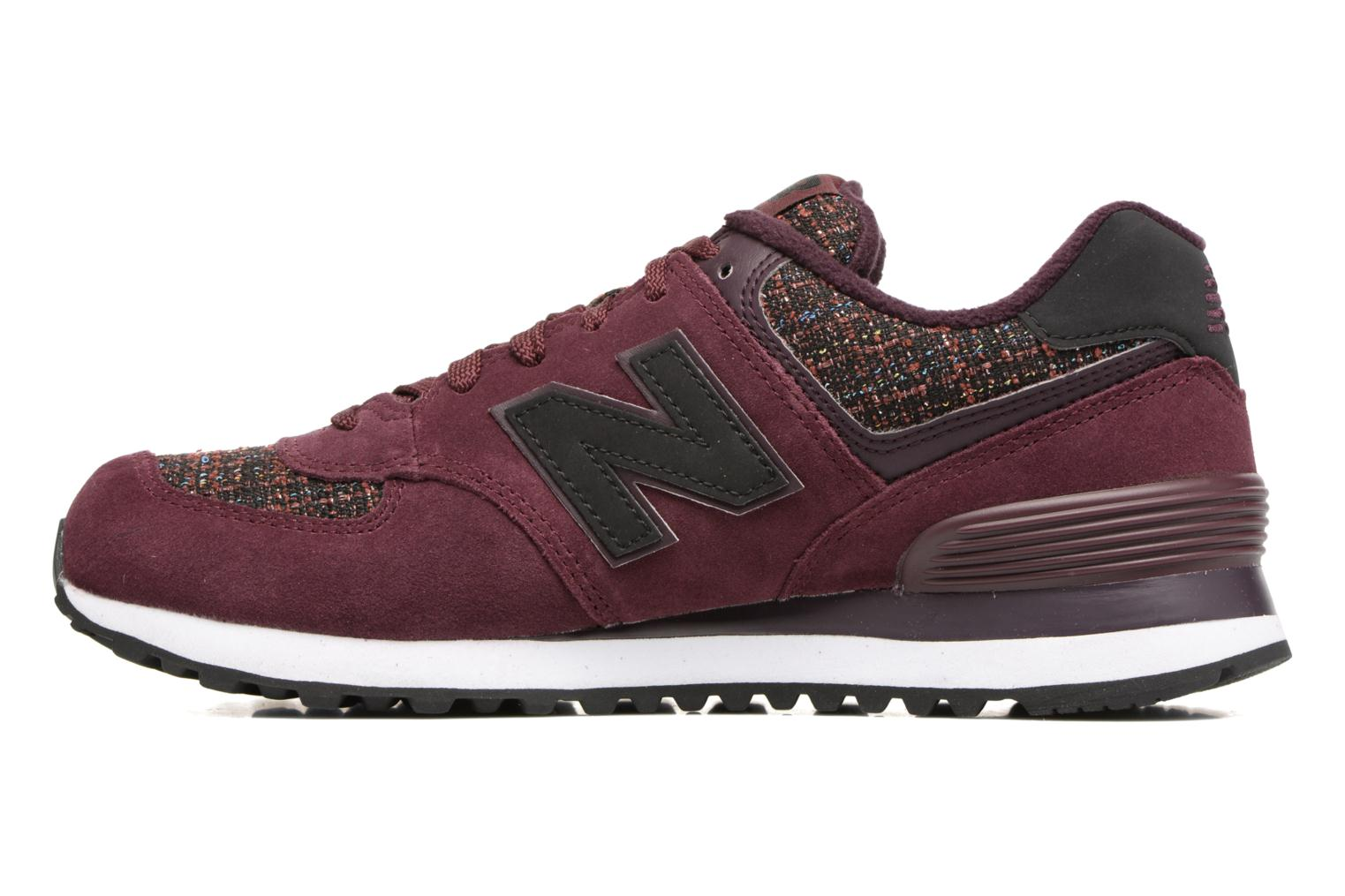 Sneakers New Balance WL574 Bordeaux voorkant