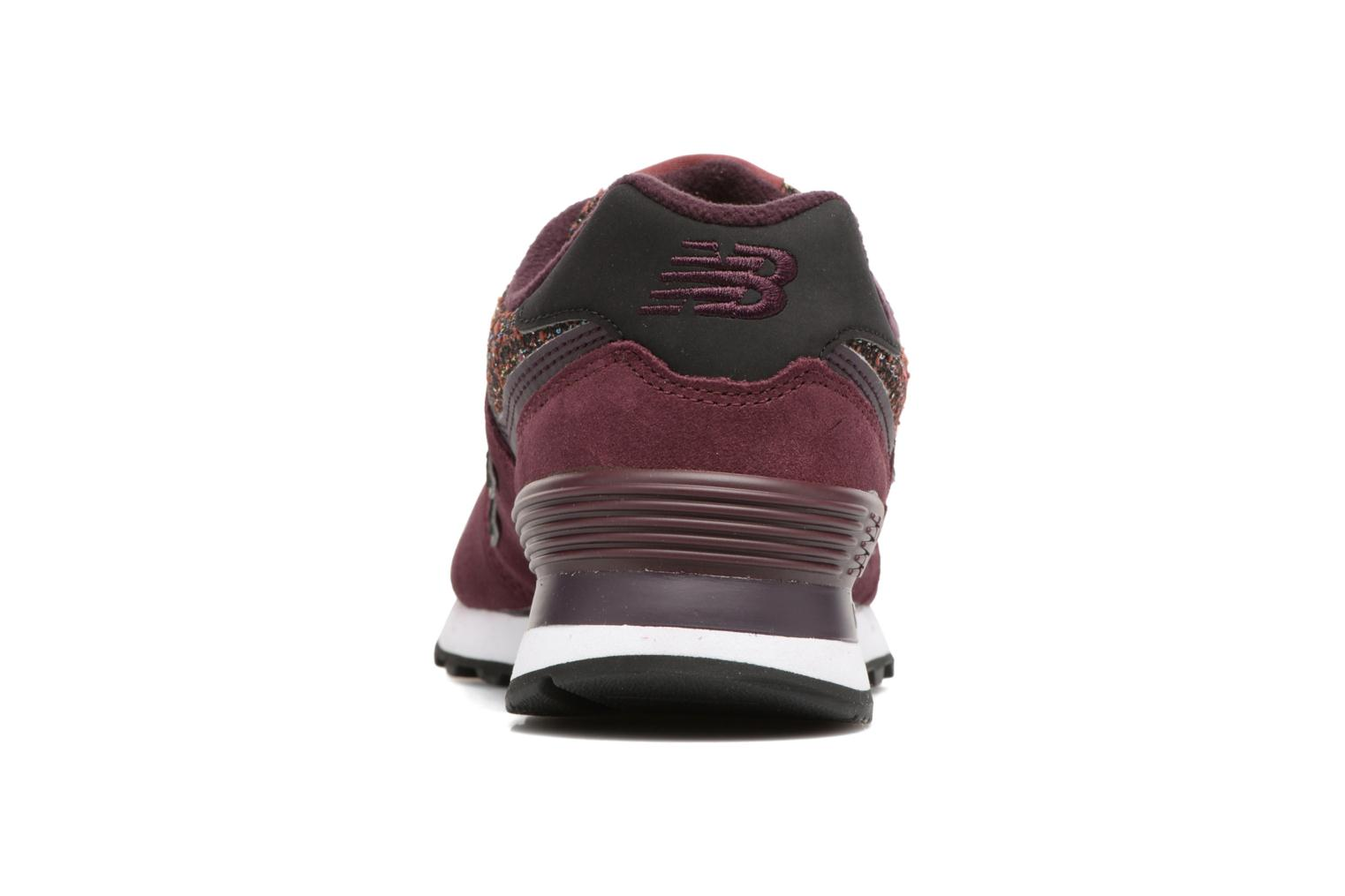 Trainers New Balance WL574 Burgundy view from the right
