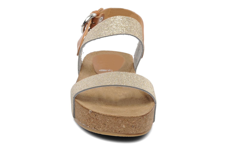Sandales et nu-pieds Eden Raikko Or et bronze vue portées chaussures