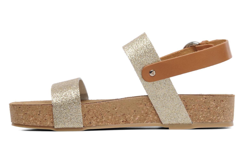 Sandales et nu-pieds Eden Raikko Or et bronze vue face
