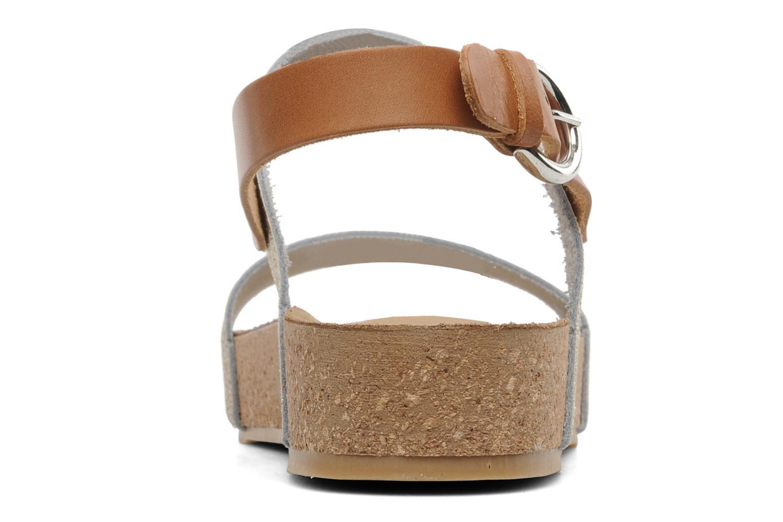 Sandales et nu-pieds Eden Raikko Or et bronze vue droite