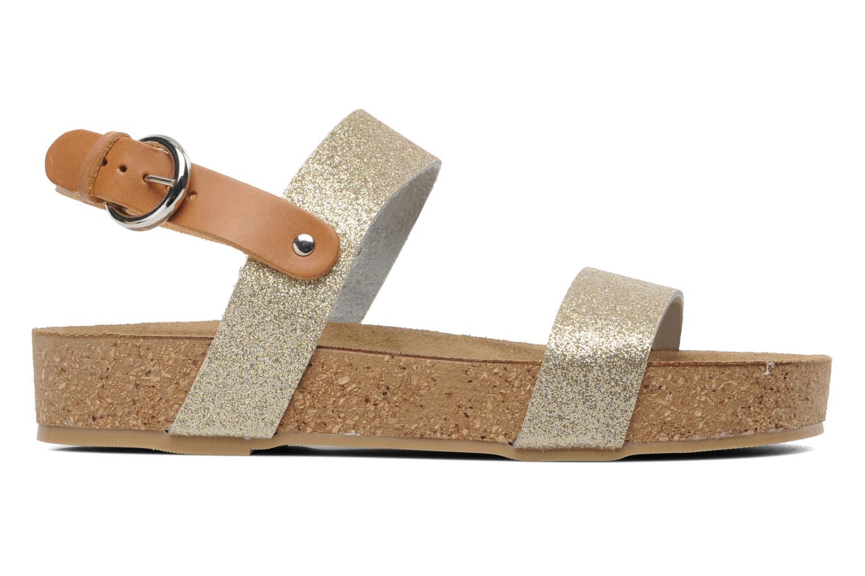 Sandales et nu-pieds Eden Raikko Or et bronze vue derrière