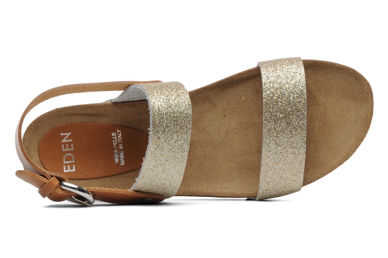Sandales et nu-pieds Eden Raikko Or et bronze vue gauche