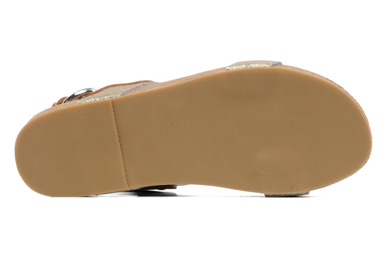 Sandales et nu-pieds Eden Raikko Or et bronze vue haut