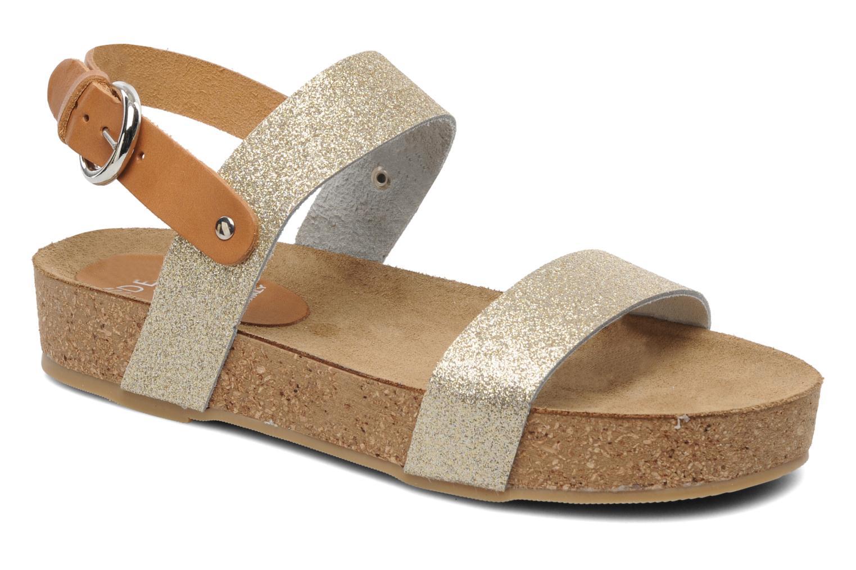 Sandales et nu-pieds Eden Raikko Or et bronze vue détail/paire