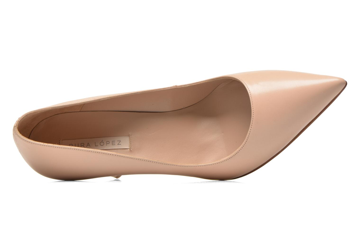 Pumps Pura Lopez Astoria beige ansicht von links