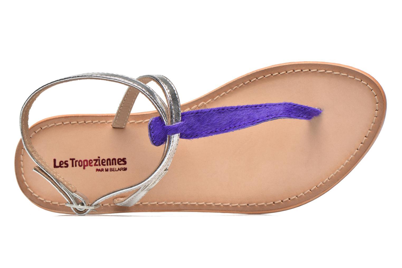 Sandales et nu-pieds Les Tropéziennes par M Belarbi Nesta Bleu vue gauche