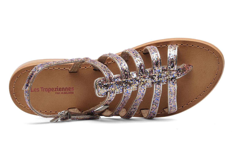 Sandales et nu-pieds Les Tropéziennes par M Belarbi Happy Multicolore vue gauche