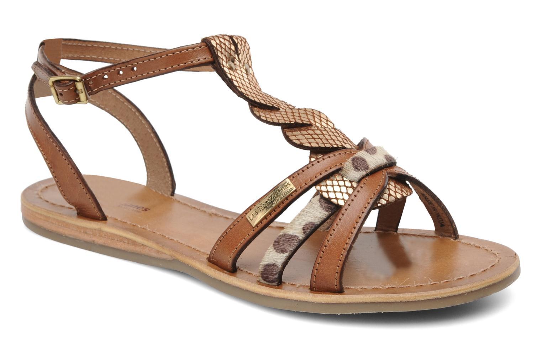 Sandales et nu-pieds Les Tropéziennes par M Belarbi Hams Marron vue détail/paire