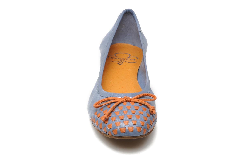 Ballerines Karston Yaela Bleu vue portées chaussures