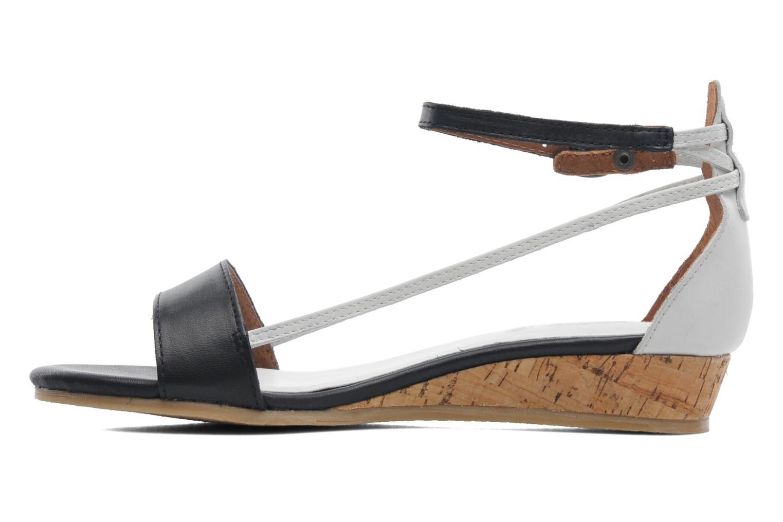 Sandales et nu-pieds Kickers Cocola Noir vue face