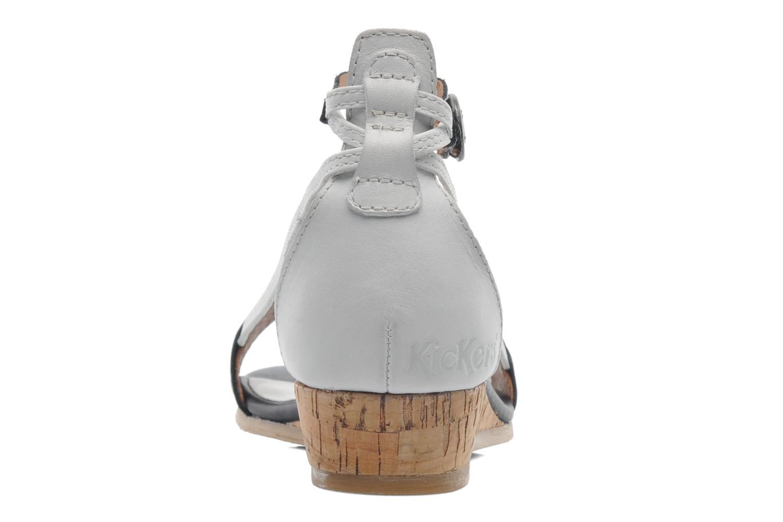 Sandales et nu-pieds Kickers Cocola Noir vue droite