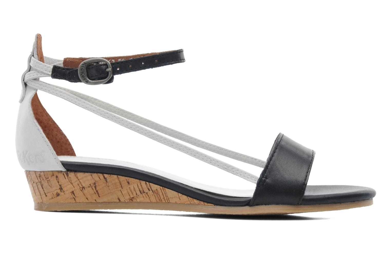 Sandales et nu-pieds Kickers Cocola Noir vue derrière