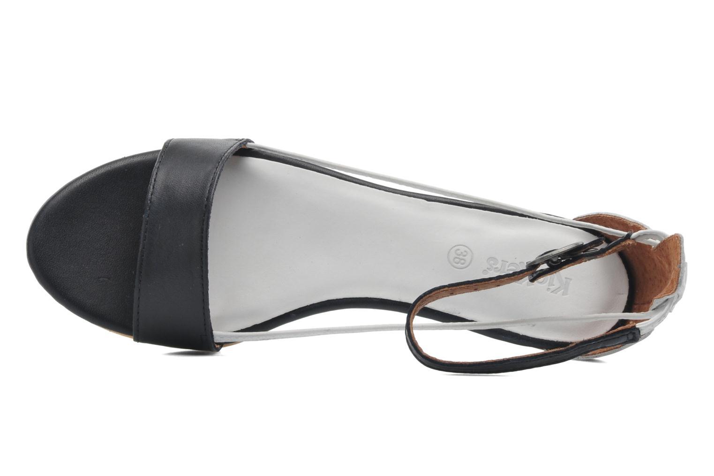 Sandales et nu-pieds Kickers Cocola Noir vue gauche