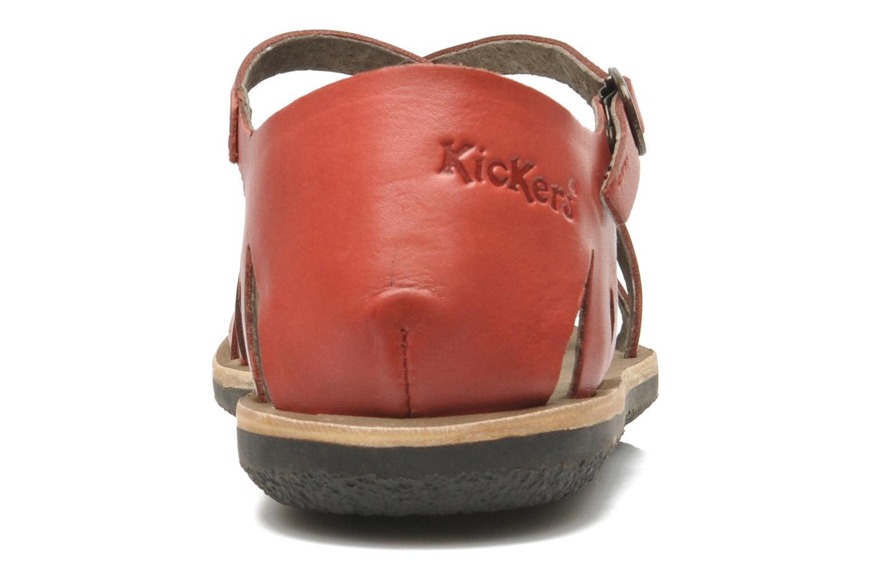 Sandalen Kickers Spartame Rood rechts