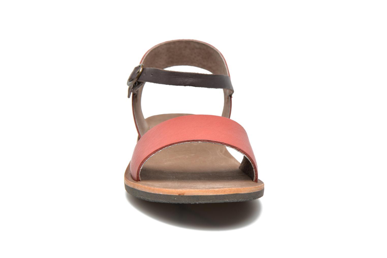 Sandalen Kickers Sparty rot schuhe getragen