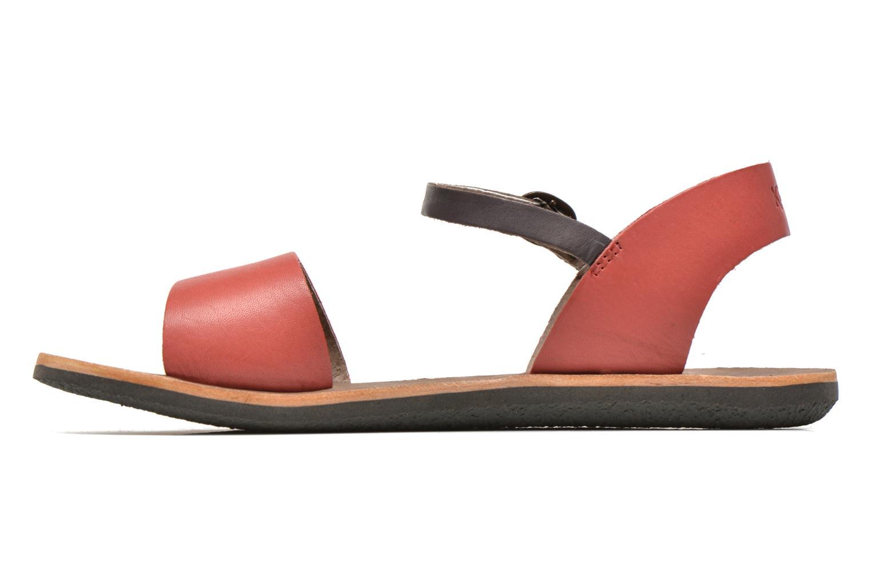 Sandalen Kickers Sparty rot ansicht von vorne