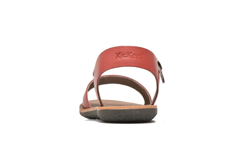 Sandalen Kickers Sparty rot ansicht von rechts