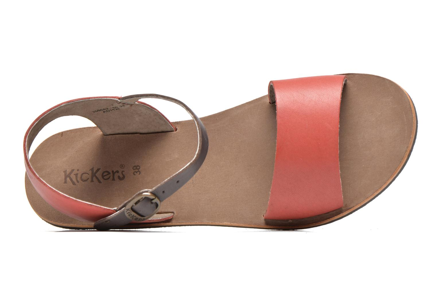 Sandalen Kickers Sparty Rood links