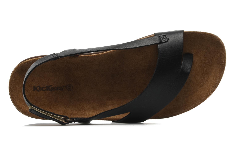 Sandales et nu-pieds Kickers Atomik Noir vue gauche