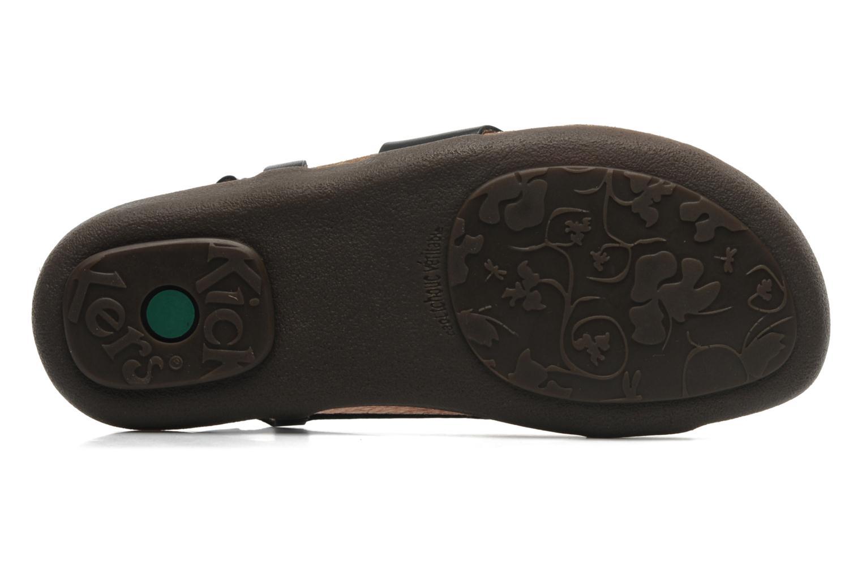 Sandales et nu-pieds Kickers Atomik Noir vue haut