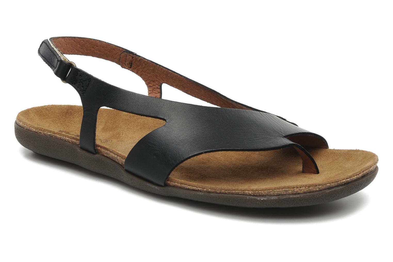 Sandales et nu-pieds Kickers Atomik Noir vue détail/paire