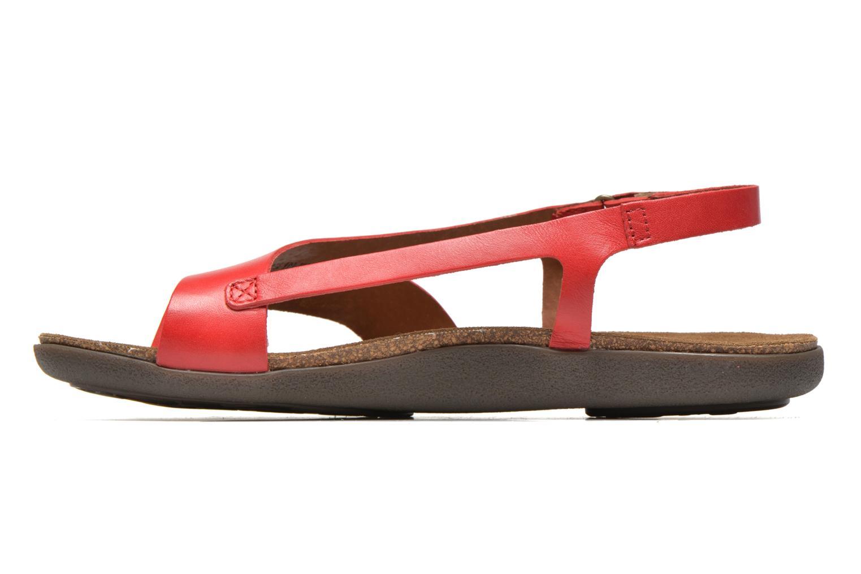 Sandales et nu-pieds Kickers Atomik Rouge vue face