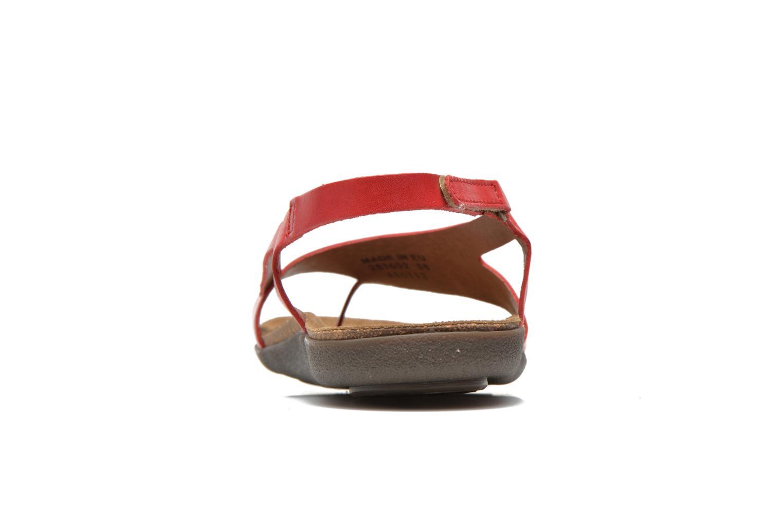Sandales et nu-pieds Kickers Atomik Rouge vue droite