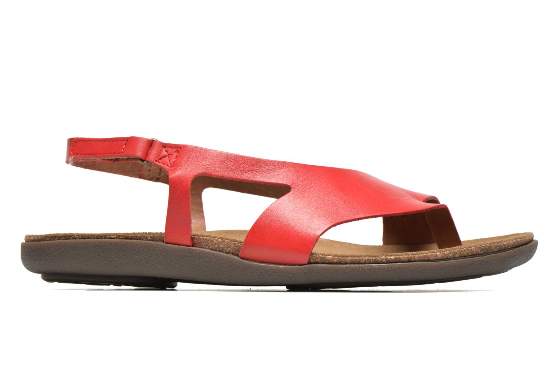 Sandales et nu-pieds Kickers Atomik Rouge vue derrière