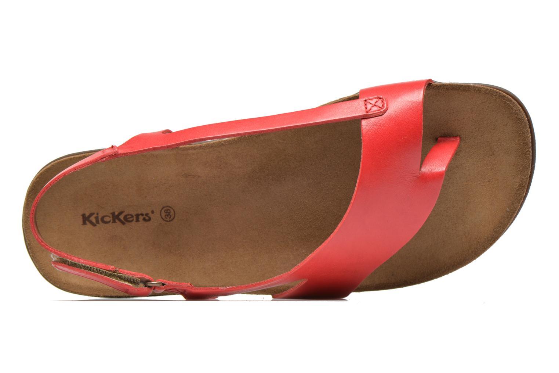 Sandales et nu-pieds Kickers Atomik Rouge vue gauche