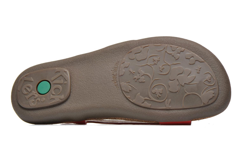 Sandales et nu-pieds Kickers Atomik Rouge vue haut