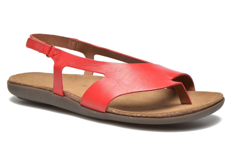 Sandales et nu-pieds Kickers Atomik Rouge vue détail/paire