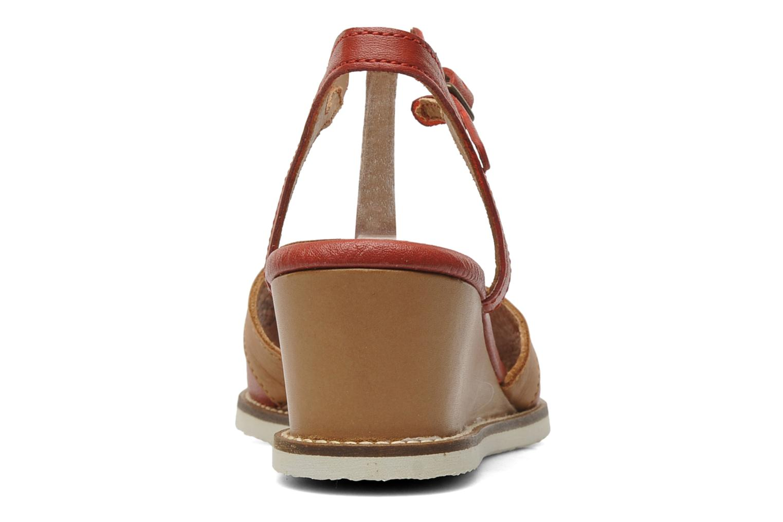 Sandalen Kickers Seshuan rot ansicht von rechts