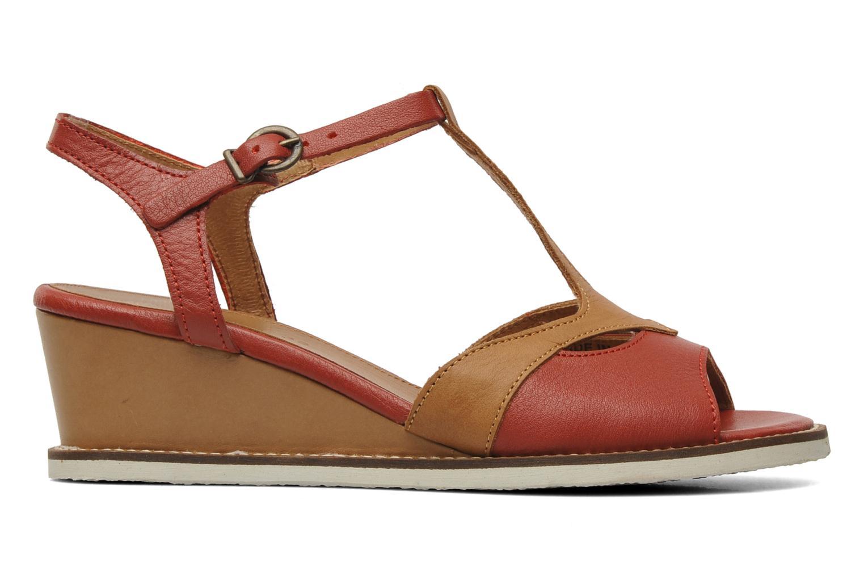 Sandalen Kickers Seshuan rot ansicht von hinten