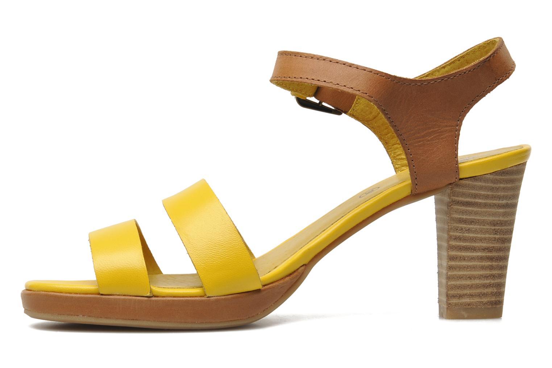 Sandalen Kickers Saloon gelb ansicht von vorne