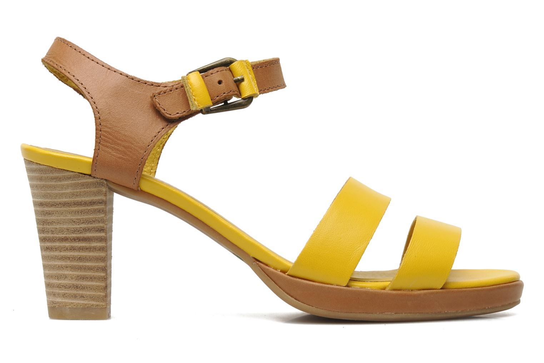 Sandalen Kickers Saloon gelb ansicht von hinten