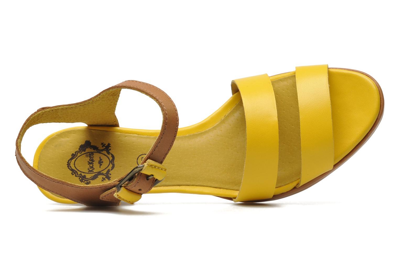 Sandalen Kickers Saloon gelb ansicht von links