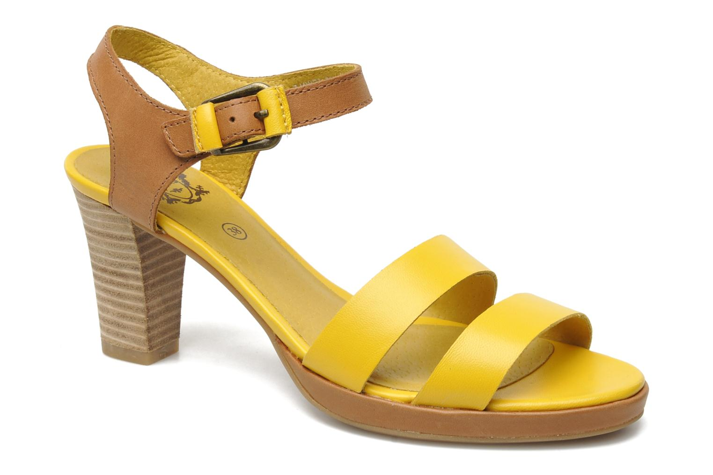 Sandales et nu-pieds Kickers Saloon Jaune vue détail/paire