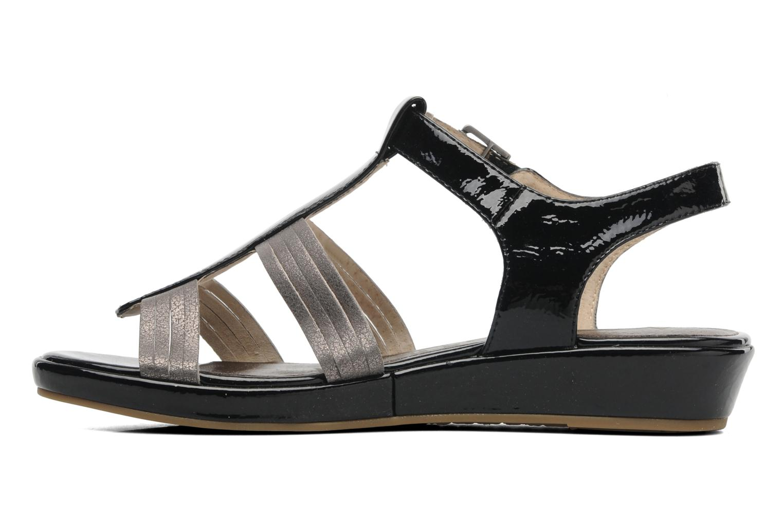 Sandales et nu-pieds Madison Enna Noir vue face
