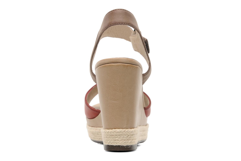 Sandales et nu-pieds Madison Epoki Rouge vue droite