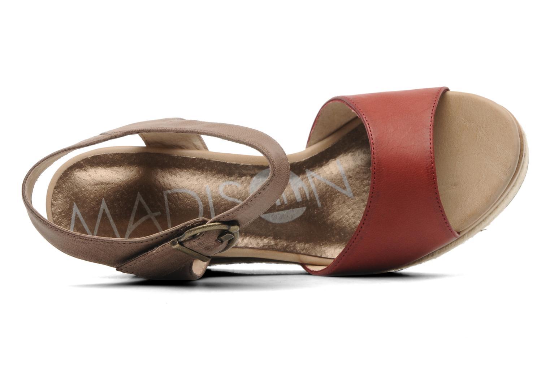 Sandales et nu-pieds Madison Epoki Rouge vue gauche