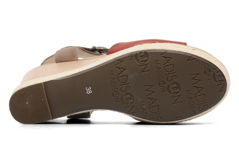 Sandales et nu-pieds Madison Epoki Rouge vue haut