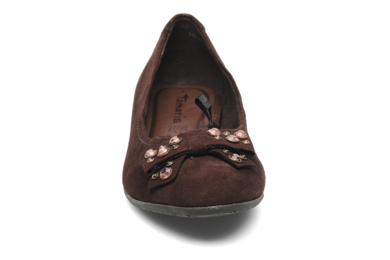 Ballerines Tamaris Taïs Marron vue portées chaussures