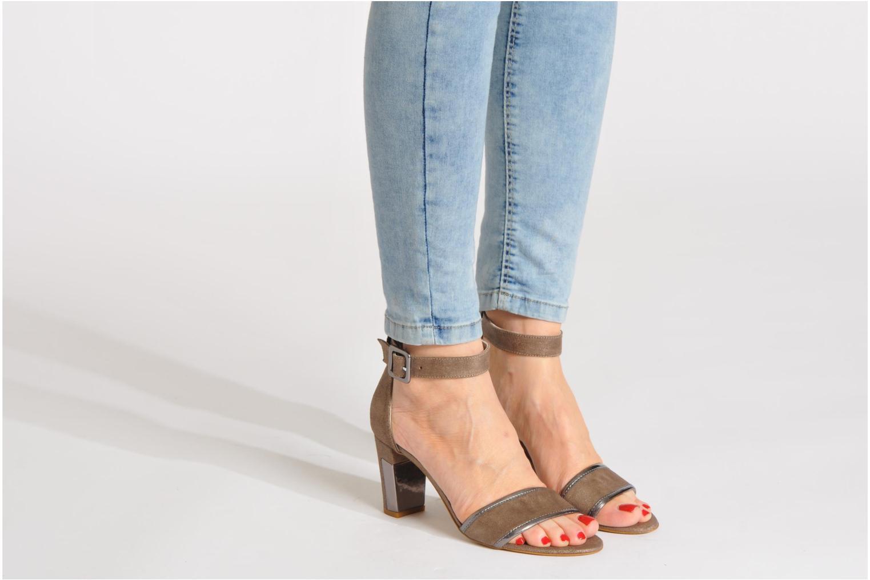 Sandalen Perlato Pufa Bruin onder