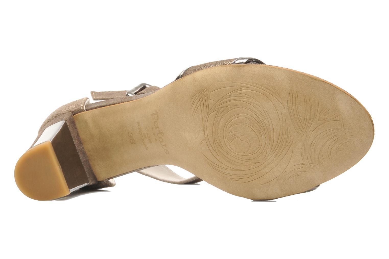 Sandalen Perlato Pufa Bruin boven