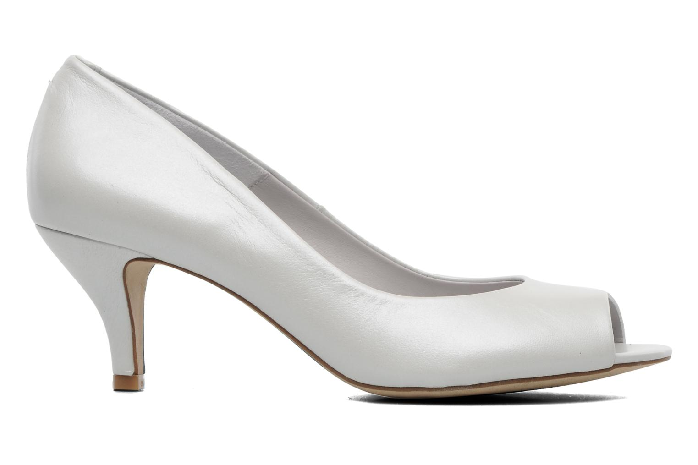 Zapatos de tacón Perlato Poshy Blanco vistra trasera