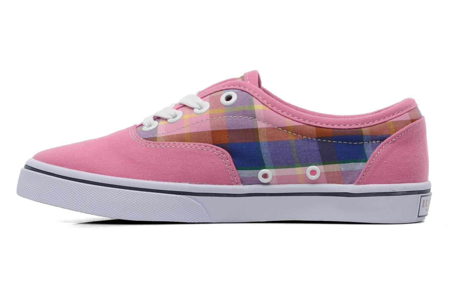 Sneakers U.S Polo Assn. GALL MADRAS Roze voorkant