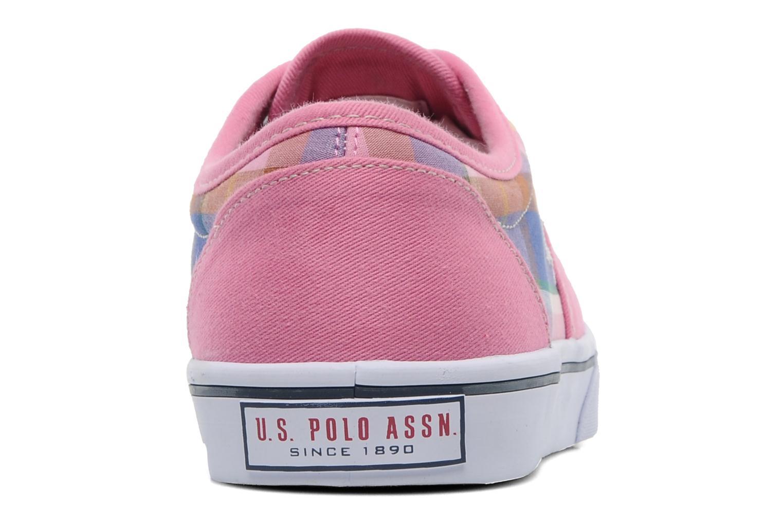 Sneakers U.S Polo Assn. GALL MADRAS Roze rechts