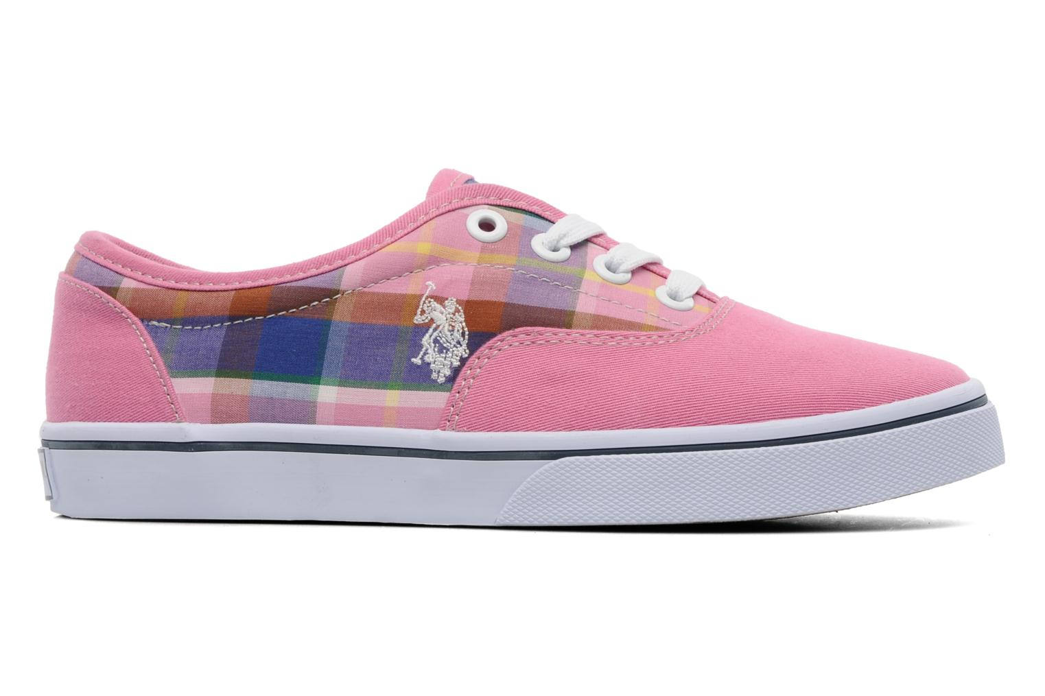 Sneakers U.S Polo Assn. GALL MADRAS Roze achterkant